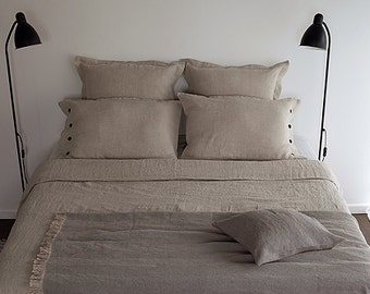 QUEEN BEDDING SET - natural linen bedding - queen set linen - queen set grey - duvet set linen - duvet set queen - usa queen set