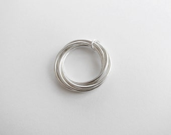 Sterling silver knot pendant ring - Changeable from pendant to a ring