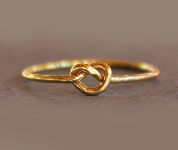 14K Gold Filled Knot Ring Gold Knot Ring Love Knot Ring