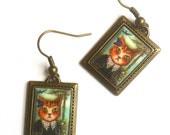 A Portrait of a Lady Cat Cameo Earrings