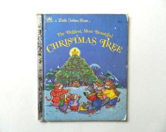 The Biggest, Most Beautful Christmas Tree, Little Golden Book, Walt Disney
