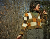 TheIntellectual~ Handknit Sweater~ Handmade Manzanita Buttons- 100%WOOL