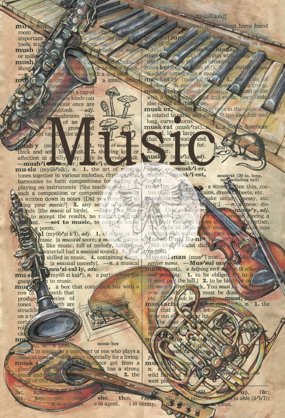 music drawing mixed print patterson antique songs pages dictionary