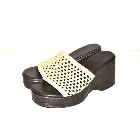 sandals platform wedge sandals chunky heel sandals 90s grunge