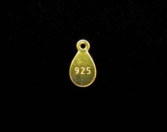 SALE Vermeil Quality Tags stamped .925 9 mm