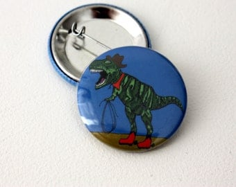 T-Rex Cowboy Badge Jurassic Park Jurassic World