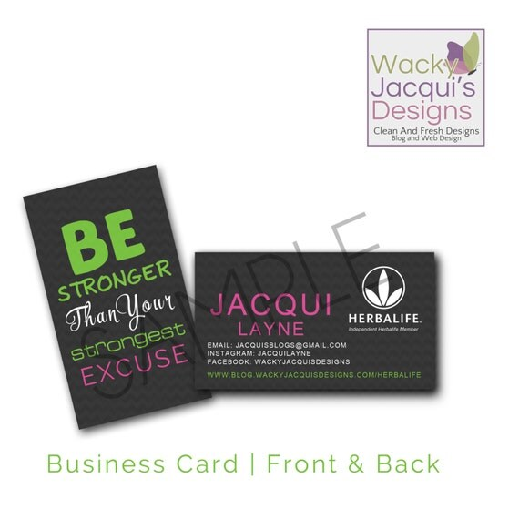 Herbalife business cards 1 herbalife by wackyjacquisdesigns for Herbalife business card