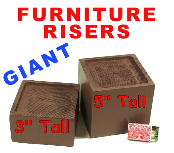 Giant wood furniture riser bed sofa chair desk by for Furniture risers