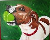 CUSTOM ORDER Canvas Pet Portraits