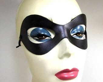 Robin Mask / Leather Mask / Cosplay Mask / Superhero Mask / Black Leather Mask / Superhero Cosplay / Hero Mask / Mask / Leather/ Fetish Mask
