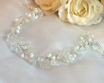 Wedding headpiece, bridal hair accessories, bridal headpiece, hair piece wedding, wedding hair accessories, bridal head piece, hairpiece