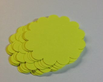 Die Cut Scalloped Circle/DIY/Scrapbooking/Decorations