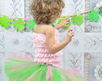 Green and pink tutu. St. Patrick's Day tutu