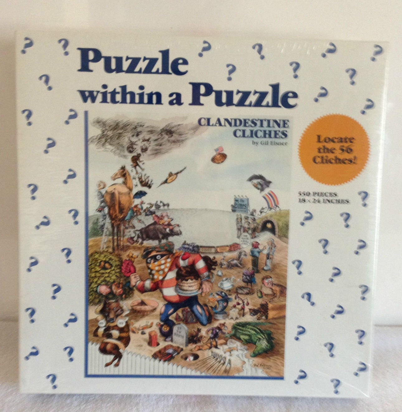 Vintage Clandestine Cliches Jigsaw Puzzle Within A Puzzle By