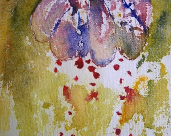 Original Abstract Watercolor Abstract floral watercolor painting Original Painting OOAK Expressionist Art Abstract Floral Art