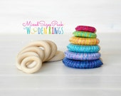 Wooden Rings - Mixed Sizes Pack - 12 Wood Rings - DIY Teething Rings - 12 Toss Rings - Wood Crafts - Wooden Teething Rings - Mixed Sizes