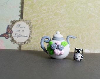 Floral Miniature Teapot