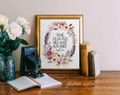 God is in her, Printable Wisdom Psalm 46:5, Bible Verse Art print calligraphy wall art decor, inspirational quote, Printable Art Bible Verse
