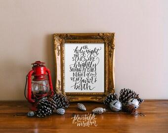 Printable Wisdom Christmas art print holiday decoration, wall art decor poster christmas carol, calligraphy print typography christian