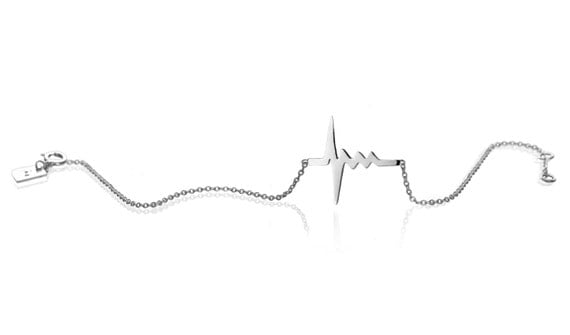 Amour Tiny Heartbeat Bracelet  - reclaimed Sterling silver or 18K gold