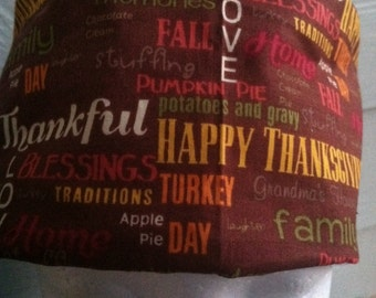 Thanksgiving Surgical Hat  Riding Cap  Chemo Cap Thanksgiving
