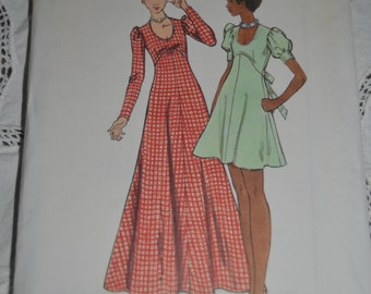 70s Butterick 6950  Misses Dress Sewing Pattern  - UNCUT Size 8 or Size 10 or Size 14 or  Size 16