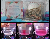 Gender Reveal Party Little Miss or Little Man Reveal Fizz: one pink, one blue