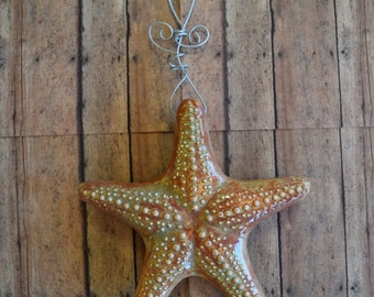 Earth Tone Hanging Starfish