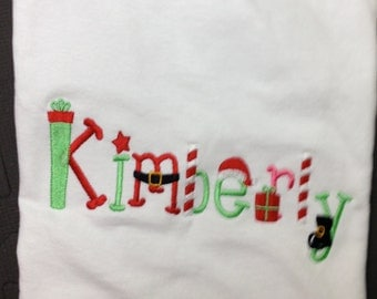 Personalized Monogrammed Holiday Shirt