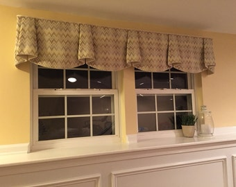"""Made to Order ANNA Hidden Rod Pocket® Valance fits 67""""- 86"""" window, Made with your fabric, includes LABOR and LINING"""