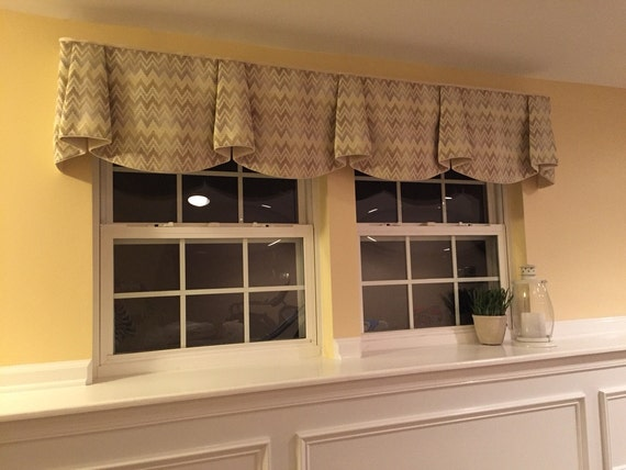 "Made to Order ANNA Hidden Rod Pocket Valance fits 67""- 86"" window, Made with your fabric, includes LABOR and LINING"