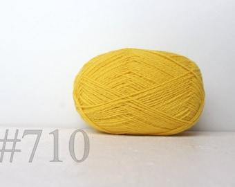 WOOL yarn 100%-knitting yarn - light yellow #710
