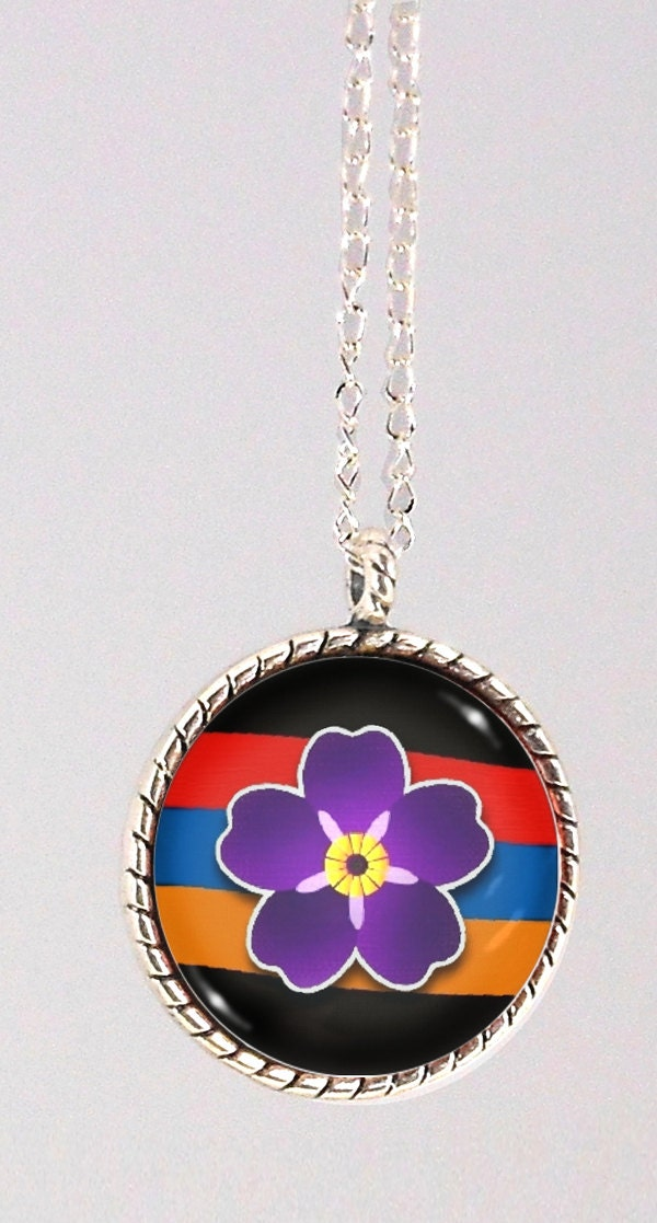 Armenian Jewelry Anmoruk Necklace Armenian Flag By Doniainart
