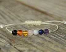 7 Chakra Bracelet, Energy Bracelet. Yoga Bracelet, Meditation Bracelet, Healing Bracelet, Crystal Healing, Gemstone Therapy, Stack Bracelet