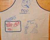 Unique 1940's Man's Apron, culinary, cartoonist