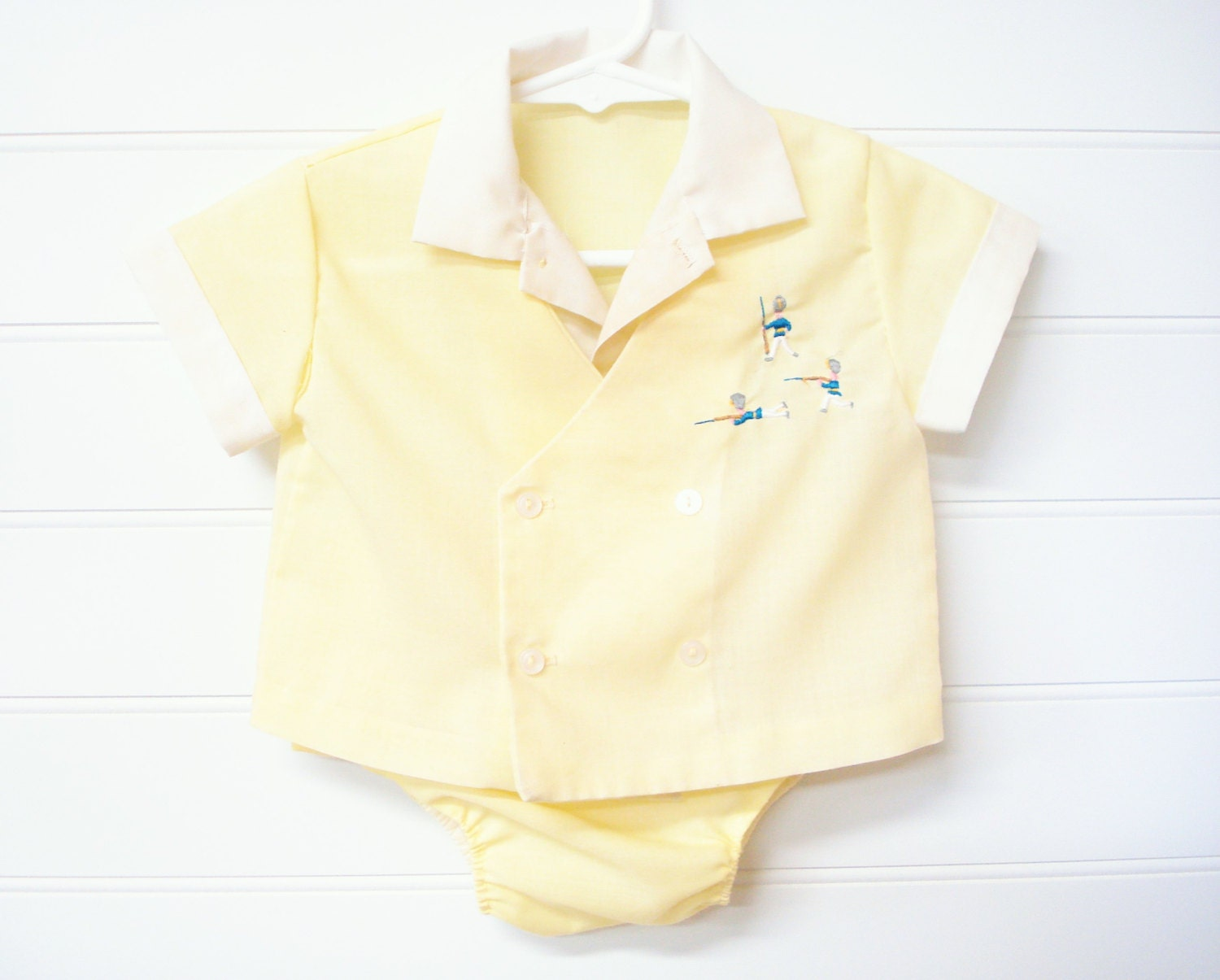 vintage baby clothes baby boy shirt and matching bloomers