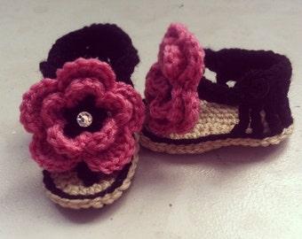 Flower Flip flops (made to order)