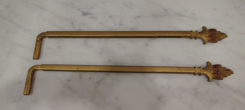 antique pair cast iron swing arm curtain rods 1 pair