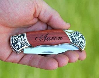 Mens Christmas Gift, Personalized Pocket Knife - Holiday Gift, Custom Engraved Christmas Gift, Pocket Knife, Gifts for Men, Groomsmen Gift