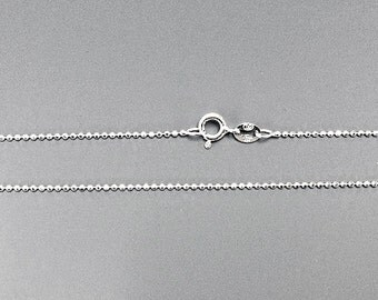 10 pc Bulk 925 Solid Sterling Silver 1.2mm Diamond Cut Bead  Ball Chain 16, 18, 20, 30 inch Necklace Made in Italy Marked 925 - SC12BCDXX-10