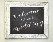 Welcome to Our Wedding Sign, Chalkboard Print, Instant Download, Rustic Wedding Printable Sign