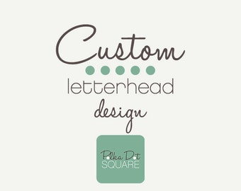 Custom letterhead design Custom design Printable letterhead Printable stationery Custom stationery