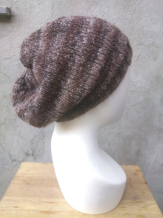 Knitting Pattern Hat Flat : KNITTING PATTERN The perfect easy slouchy baggy beanie knit