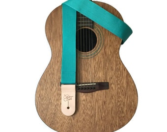 Teal Lightweight Poly Guitar Strap - 2""