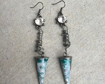 SteamPunk Cone Earrings