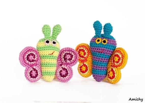 Amigurumi Butterfly Tutorial : Amigurumi Pattern Crochet Amimals Butterfly Tutorial
