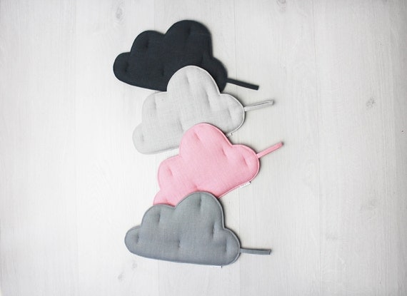 Pot holder Set of 2, Pink and Grey Clouds, Kitchen gift idea Hostess gift Pot Holders & Trivets