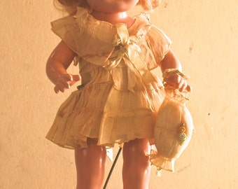 Antique Vintage Arranbee Nancy Doll with Original Clothes 1930s Blonde Mohair Wig