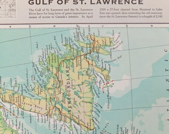 St Lawrence River Etsy - Us map with st lawrence river