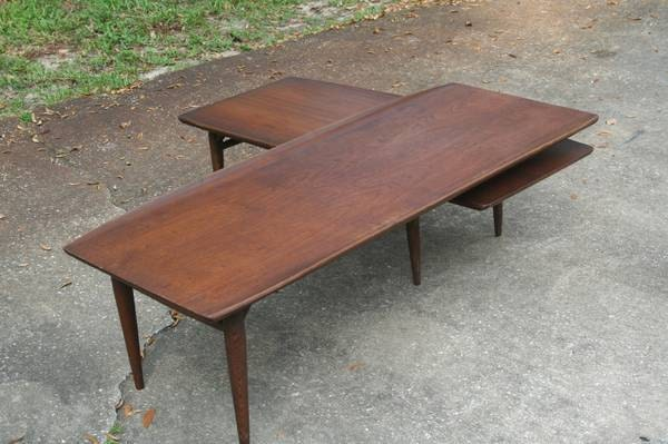 Bassett Artisan Coffee Table Mid Century Swivel Surfboard Mcm Boomerang Vintage Home Decor